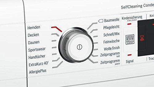 Bosch WTW87541 Serie 8 Wärmepumpentrockner / A++ / 259 kWh/Jahr / 9 kg / weiß / Edelstahltrommel / selbstreinigender Kondensator / AutoDry - 3