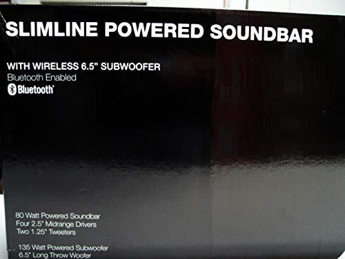 W Box Technologies 0E-SB65 Slimline Powered Soundbar w/Wireless Subwoofer