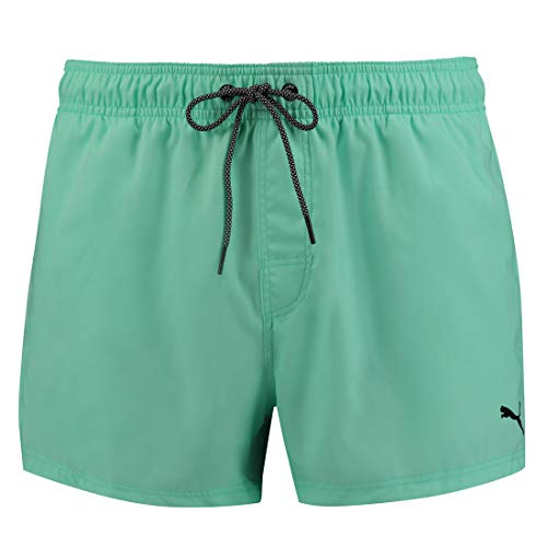 PUMA Herren Badehose Badeshorts Logo Short Length Swim Shorts, Bekleidungsgröße:XL, Farbe:Mint