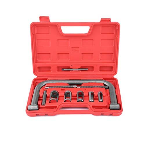 Motorfederkompressor-Werkzeug, 10-teiliges Stahlventil-Federkompressor-Kit Ausbau-Installationswerkzeug für Van-Motorradmotoren
