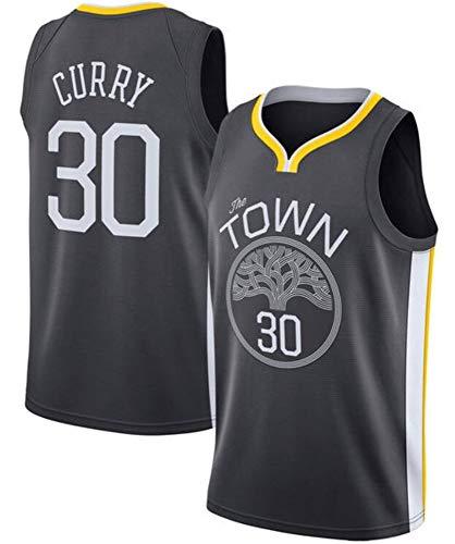 WSUN Jerseys para Hombres NBA Warriors # 30 Stephen Curry Swingman Camiseta Unisex Jersey Shirt Edition,A,S(165~170CM/50~65KG)