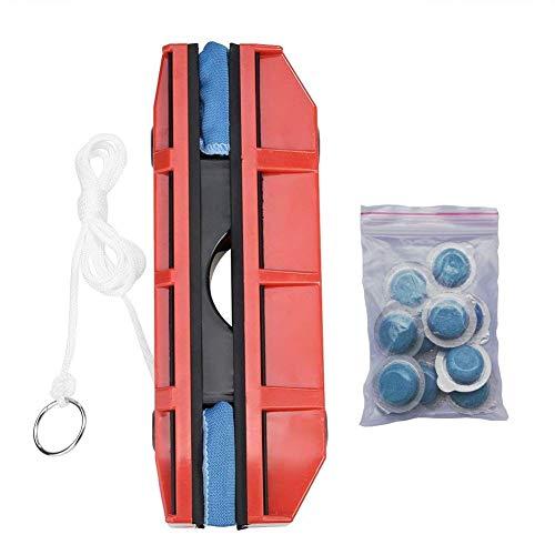 N/ A Einseitiger magnetischer Fensterreiniger Tragbares Auto-Scheibenwischer-Glaswischer-Reinigungswerkzeug mit Stoff für den Heimgebrauch, Geschenke für Familien