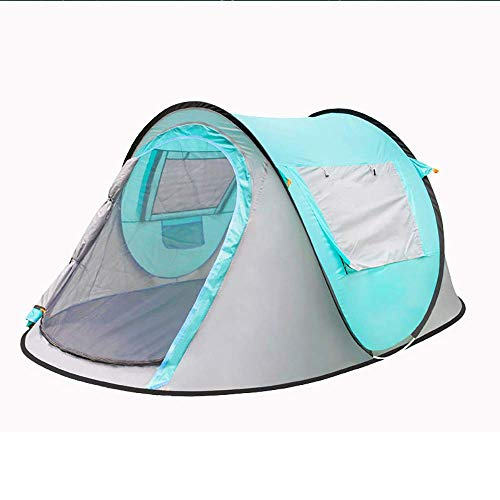 Lightweight Tent,Automatic Pop Up Camping Tent for 3 to 4 Person 100% Dome Canopy waterproof Easy to Set up
