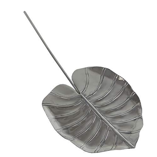 Deko-shine coupelle reshan leaf en aluminium poli