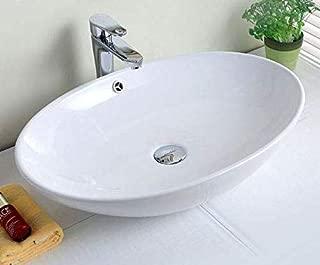 Kohler 2075 1 0 Vitreous China Drop In Oval Bathroom Sink White 27 X 20 75 X 10 75 Inches Tools Home Improvement Bathroom Sinks Fcteutonia05 De