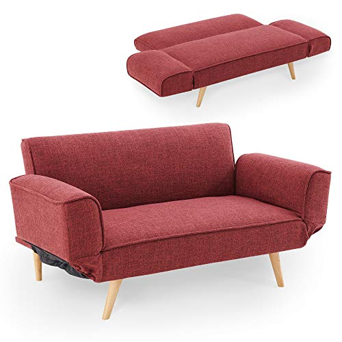 Clic clac 3 places Rouge Tissu Scandinave