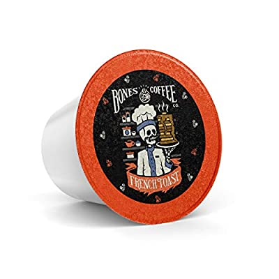 Bones Coffee Company Flavored Coffee K Cups, French Toast - 12ct Single-Serve Coffee Pods for Keurig Coffee Maker
