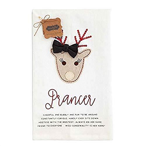 Mud Pie Prancer Reindeer Towel, 26'' x 16 1/2'''