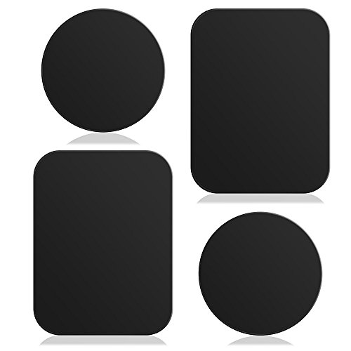 Universal 4 Pcs Replacement 3M Plate Adhesive Metal Accessory Pack for All Magnetic In Car Mount Mobile Cell Phones