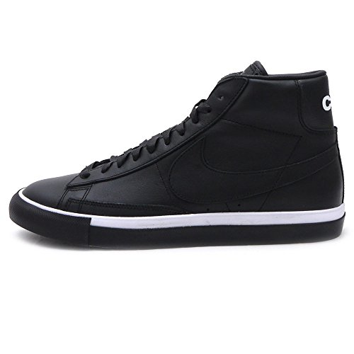 Nike Herren Blazer High/CDG Basketballschuhe, Black/White (Black/Black-White), 40.5 EU