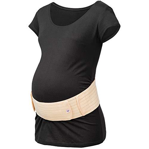 Herzmutter Bauchgurt-Schwangerschafts-Stützgürtel-Bauchband - größenverstellbarer Schwangerschaftsgurt - Bauchgurt Schwangerschaft - Gymnastik-Yoga-Sport - 3200 (L-XL, Beige)