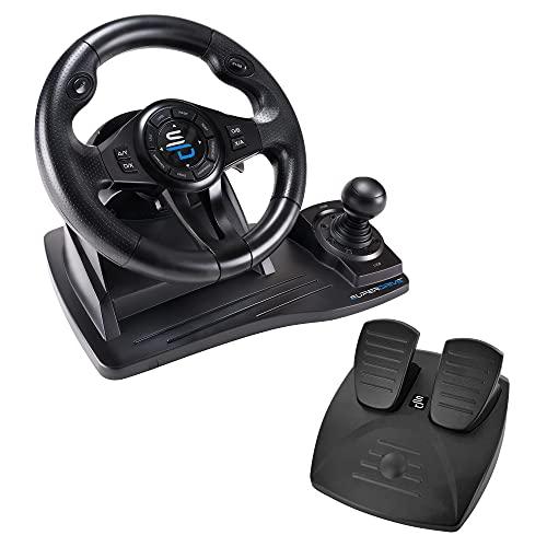 Subsonic - Superdrive, Volante De Carreras Gs550 Con Pedales, Paletas, Palanca De Cambios Y Vibración Para Xbox Serie X/S, Ps4, Xbox One, Pc (Programable Para Todos Los Juegos), Xbox Series X