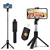 WEYOUNG Selfie Stick, Extendable Selfie Stick Tripod with Wireless Bluetooth Remote and Tripod