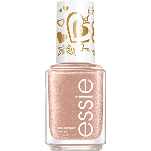 Essie Nail Polish Limited Edition Valentine's Day Collection Rose Nail Color With A Shimmer Finish fluid_ounces, Heart of Gold, 0.46 Ounce