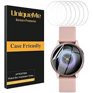 UniqueMe [6 Pack] Protector de Pantalla para Samsung Galaxy Watch Active