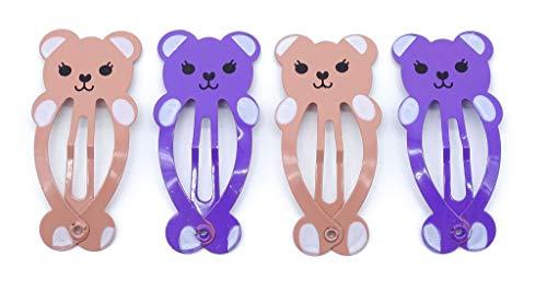 Teddybären-Schlafsäcke 4 cm, Beige/Violett, 4 Stück