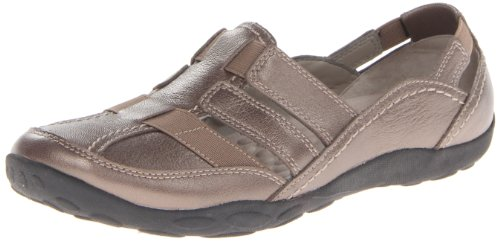 Clarks Women's Haley Stork Flat,Pewter,6.5 M US