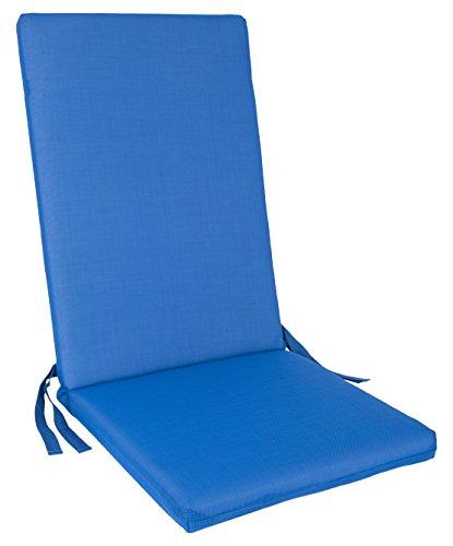 Anjosa 72-AL2 Cojín Posiciones para Silla, Azul, 115x48x6 cm