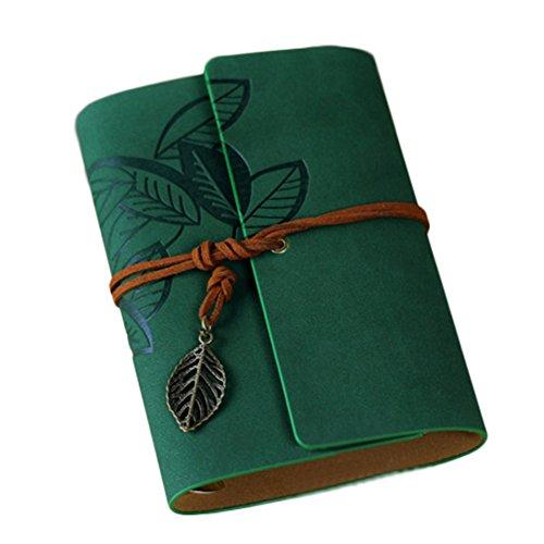 Demarkt Cuadernos de Dibujo 1PCS Verde oscuro, hojas de 5 pulgadas, 12.5 * 9.5cm