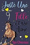 Juste Une Fille De 9 ans Qui Aime Les chevaux: Mon Journal intime: Carnet de notes pour les femmes Filles Enfants Cadeau, Cadeau d'Anniversaire des ... les Chevaux de 9 ans! Joli cadeau pour 9 ans