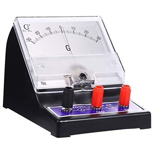 ULTECHNOVO Analoger Amperemeter Zeiger Typ Elektrischer Strom Ampere Tester Empfindliche Amperemeter Mikroammeter Galvanometer für Laborschule