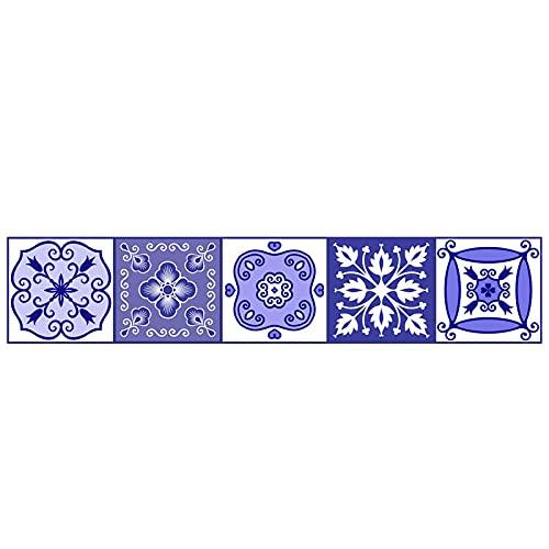 Pegatinas para azulejos de América del Norte Impermeable Pegatinas de Pared DIY Autoadhesivas Removibles Retro Cuadradas Pegatinas para Cocina Baño Decoración de Muebles 15 cm x 75 cm X1