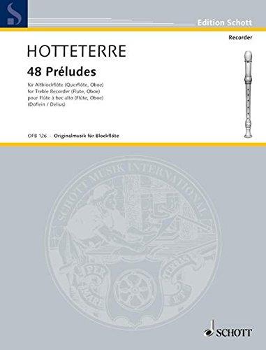 Preludes(48) in 24 Tonarten Flûte a Bec