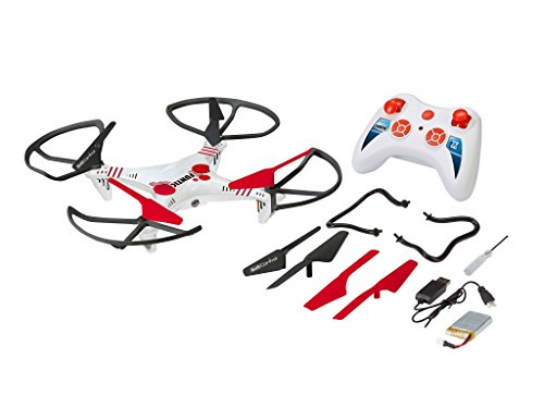 Revell Control RC Quadrocopter für Einsteiger, ferngesteuert mit 2,4 GHz Fernsteuerung, robust, Wechsel-Akku, Headless, Flip-Funktion, Geschwindigkeitsstufen, LED-Beleuchtung, Propellerschutz - 23937