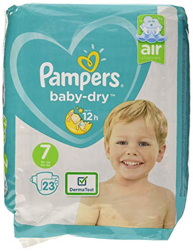 Pampers Baby Dry taille 7, pour respirants Sécheresse, 23pièces