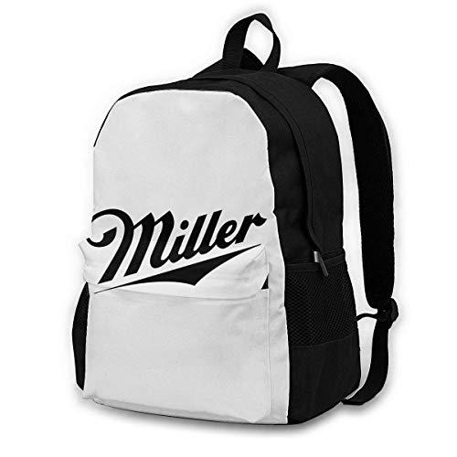 IUBBKI Miller Beer Backpacks, Adult Backpacks, Suitable for Schools, Tourism, Mountaineering, Shopping, Etc.