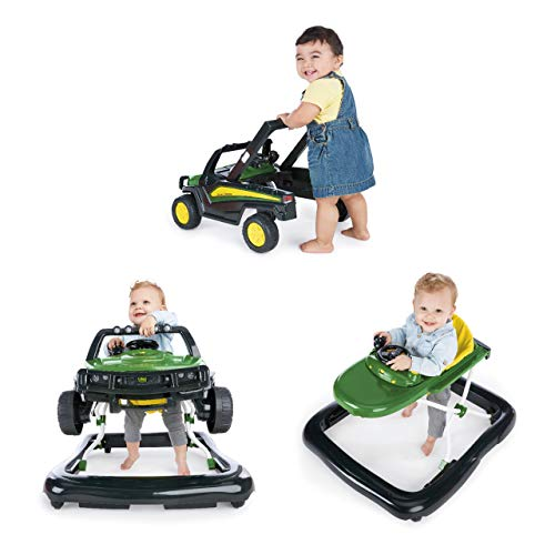 Bright Starts John Deere Gator 3 Ways to Play Walker Ages 6 Months +, Green