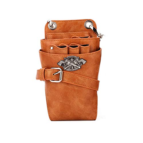 Hairstylist Holster Pouch Inhaber Tool selbst Leder Barber Scissor Holster Pouch,Brown1