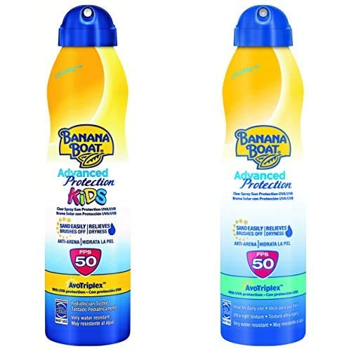 Banana Boat Crema Solar Bundle Para Niño Y Adulto (Spray) Advanced Protection
