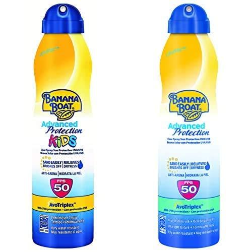 Banana Boat Crema Solar Bundle Para Niño Y Adulto (Spray) Advanced Protection
