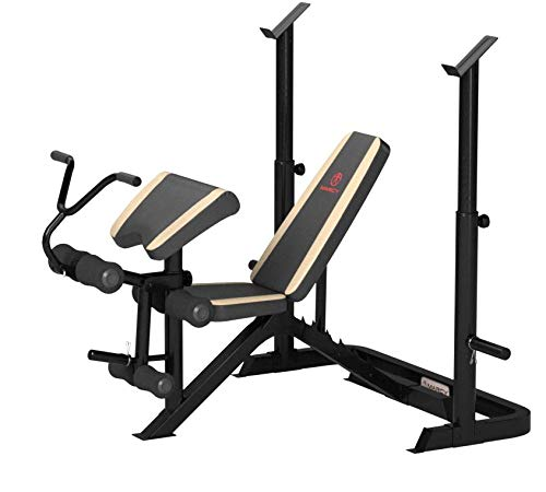 Product Image 5: Marcy Adjustable Olympic Weight Bench with Leg Developer and Squat Rack MD-879