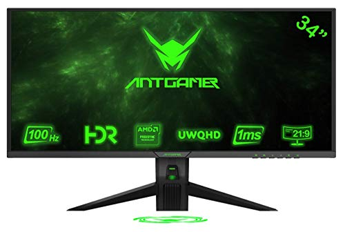 ANTGAMER M34G5Q (34 Zoll UWQHD / 3440 x 1440 Pixel, 21:9, 1ms, 100Hz Curved Gaming Monitor)