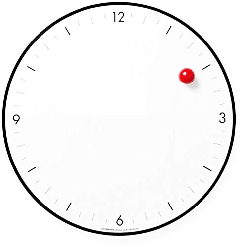 ZRSZ Timesphere Clock Wanduhr, Red Dot Magnetische Wanduhr, Kreative Dekoration Nach Hause Uhr 8 Zoll