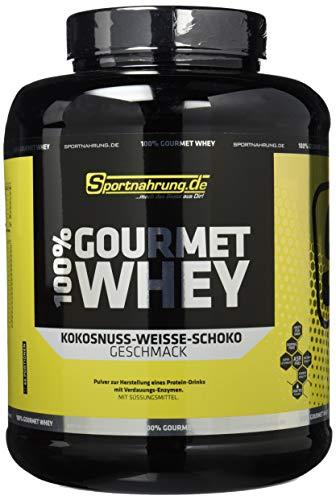 Sportnahrung.de 100{49664c66185856dcdd21e27d7ec64ba954b80ddfd67446f055d2d6d488d78374} Gourmet Whey - hochwertiges leckeres Protein mit wichtigen Aminosäuren und MCT Weiße Schoko-Kokosnuss, 2000 g