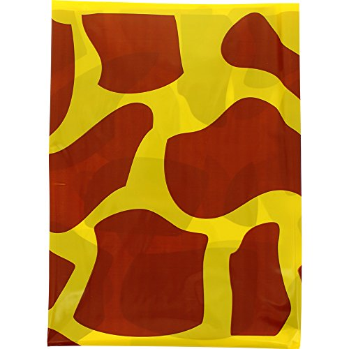 Fixo 72107 - Pack de 5 bolsas disfraz, 65 x 90 cm, color multicolor (amarillo/marrón)