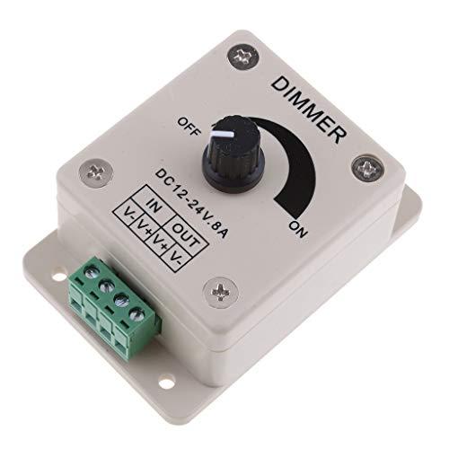 DJY-JY DC12V 8A perilla regulador de luz LED interruptor PWM regulador regulador de intensidad para barco, yate, RV, camión, luces de coche