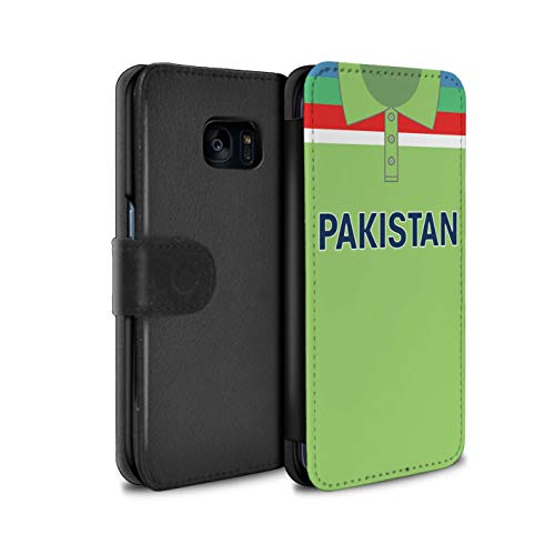 Phone Case Wallet for Samsung Galaxy S7 Edge/G935 Retro Cricket Kit World Cup 1992 Pakistan/Pakistani Flip Faux PU Leather Cover