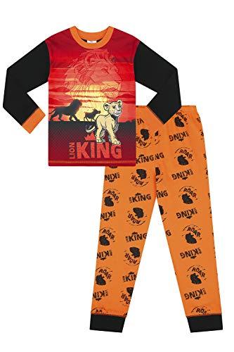 Langer Pyjama für Mädchen und Jungen, Disney-Motiv König der Löwen Gr. 5-6 Jahre, Schwarz