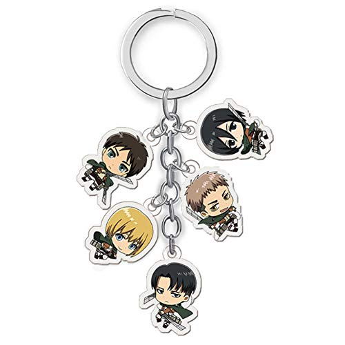 ALTcompluser Anime Attack on Titan Schlüsselanhänger Schlüsselbund Acryl Anhänger(H01)