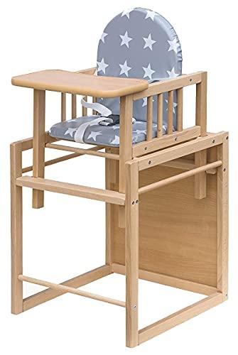 Best For Kids Kombihochstuhl Victoria Sterne - leicht umbaubar zur Stuhl-Tisch-Kombination HIGH QUALITY