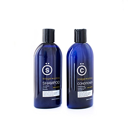K + S Salon Shampoo and Conditioner Set for Men, Hair Loss, Dandruff, and Dry Scalp – 8 Ounce