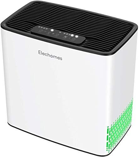 Elechomes Luftreiniger für Hausschlafzimmerallergien und Haustiere Haarraucher, echter H13 HEPA-Filter mit 4-Stufen-Filterung, 22dB Leiser Luftreiniger Geruchsbeseitiger für 25㎡ Room P1801