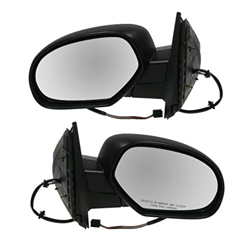 Side View Mirrors Power Heated Textured Black LH & RH Pair Set for Chevy GMC