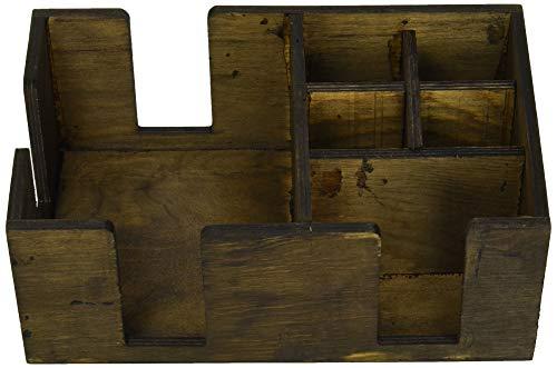 Bar en bois Caddy – Accessoire bar aide à cocktail et barre porte serviette et rangement