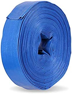 25/50m 2 Inch PVC Layflat Water Hose Pump Transfer Lay Flat Outlet Discharge 50mm Backwash Pool Water Pipe Fire Hose for W...