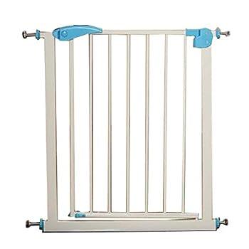 Hyzb Barrière De Sécurité Porte Porte Chien Garde-Corps Rampe D'escalier Clôture pour Isolement en Métal pour Chien Chat Chat en Métal - Longueur 65-72cm, Hauteur 76cm (Couleur : Bleu)